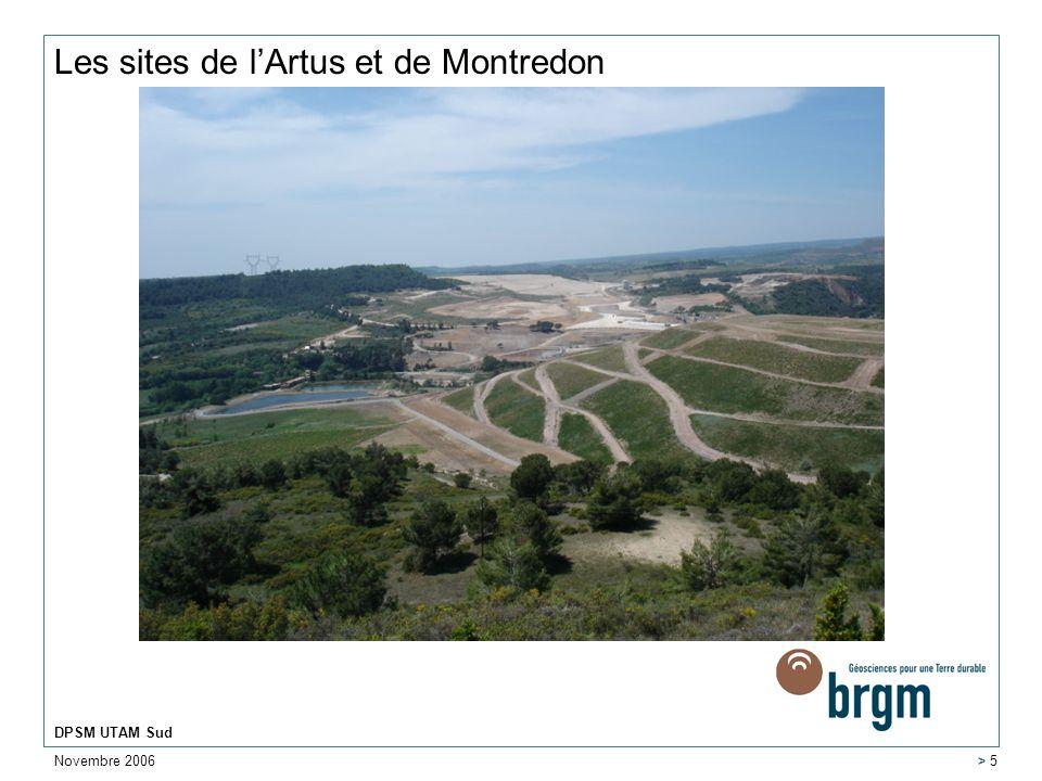Les sites de l'Artus et de Montredon