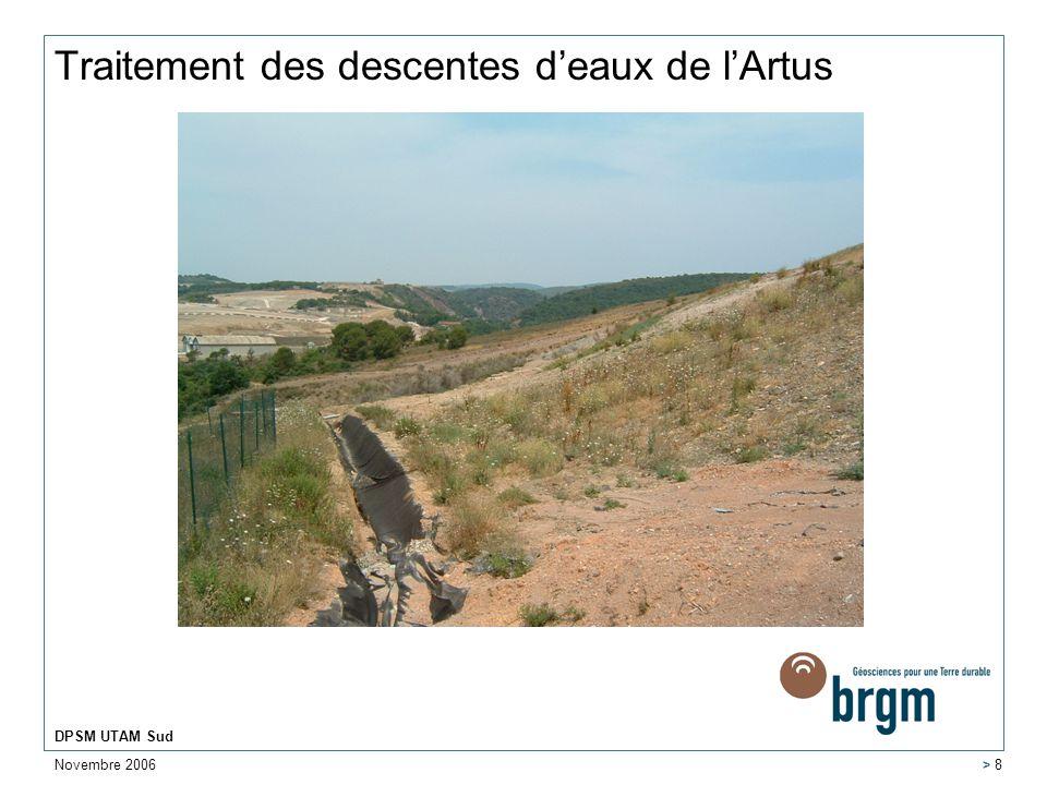 Traitement des descentes d'eaux de l'Artus