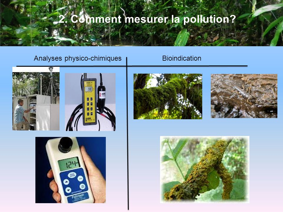 2. Comment mesurer la pollution