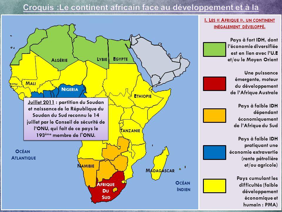 I. Les « Afrique », un continent inégalement développé.