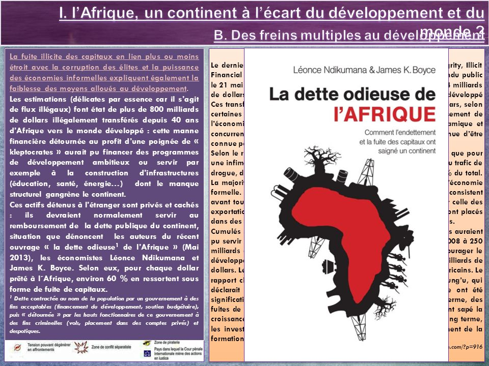 I. l'Afrique, un continent à l'écart du développement et du monde