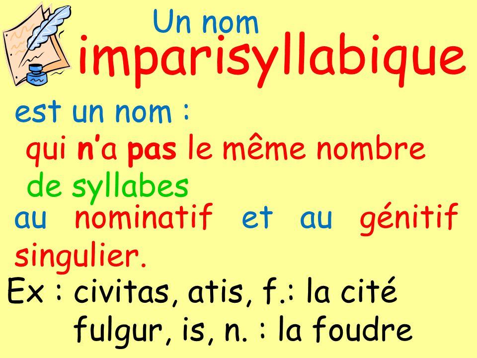 impari syllabique Un nom est un nom : qui n'a pas le même nombre