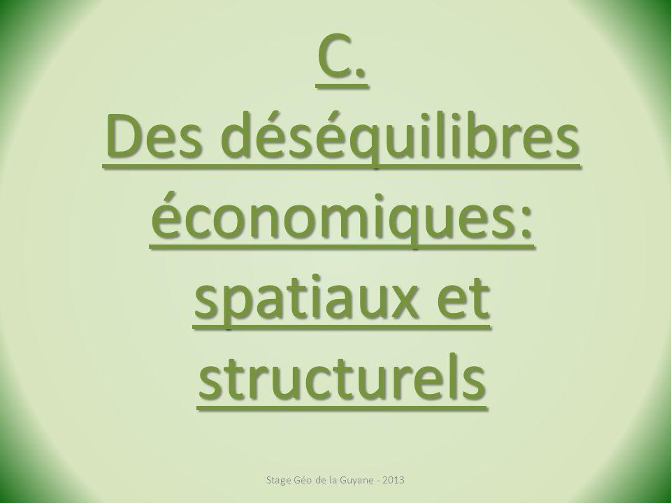 C. Des déséquilibres économiques: spatiaux et structurels