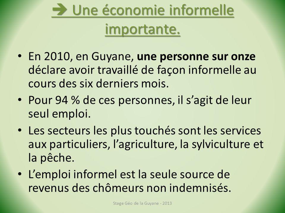  Une économie informelle importante.