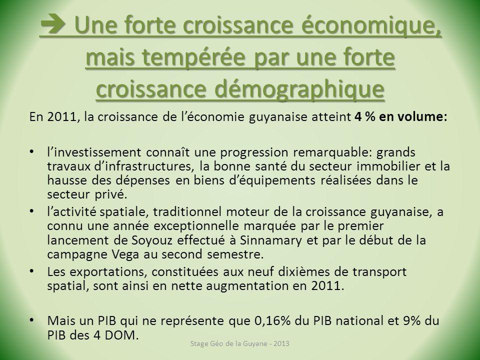 Une forte croissance économique, mais tempérée par une forte croissance démographique