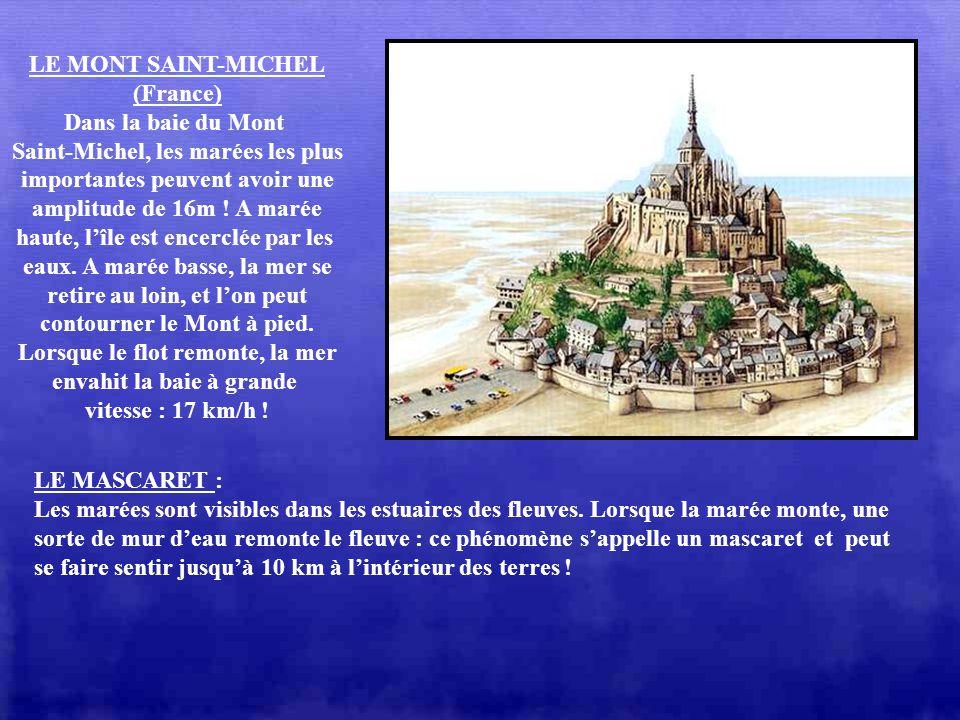 Saint-Michel, les marées les plus importantes peuvent avoir une