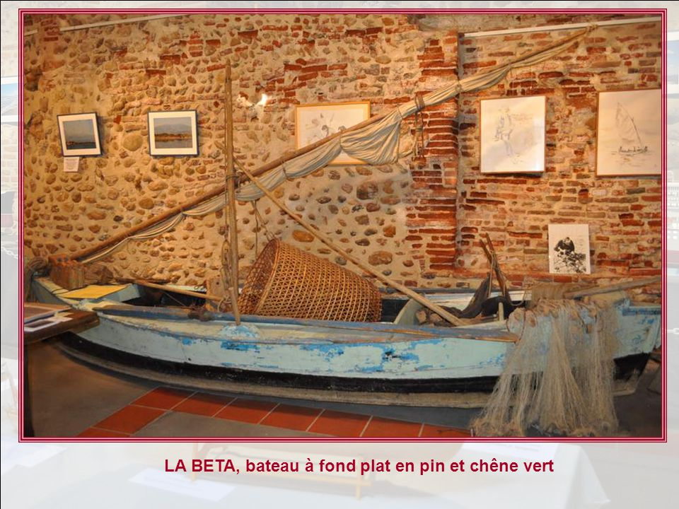 LA BETA, bateau à fond plat en pin et chêne vert