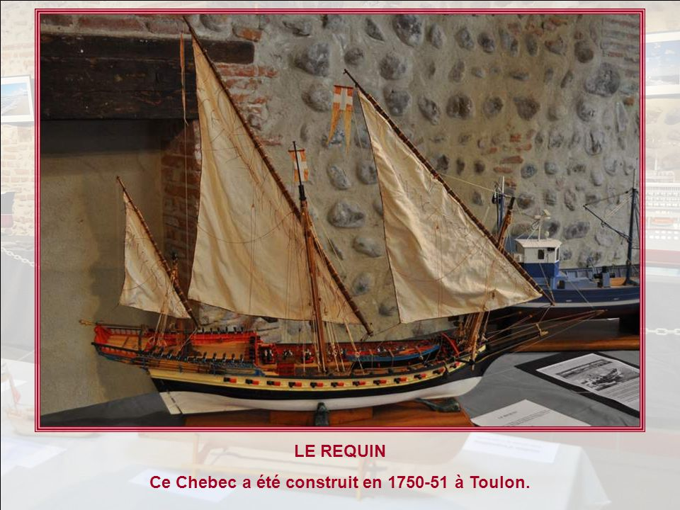 Ce Chebec a été construit en 1750-51 à Toulon.