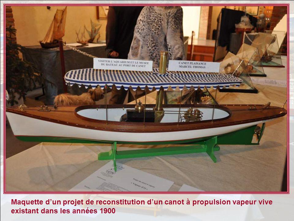 Maquette d'un projet de reconstitution d'un canot à propulsion vapeur vive existant dans les années 1900