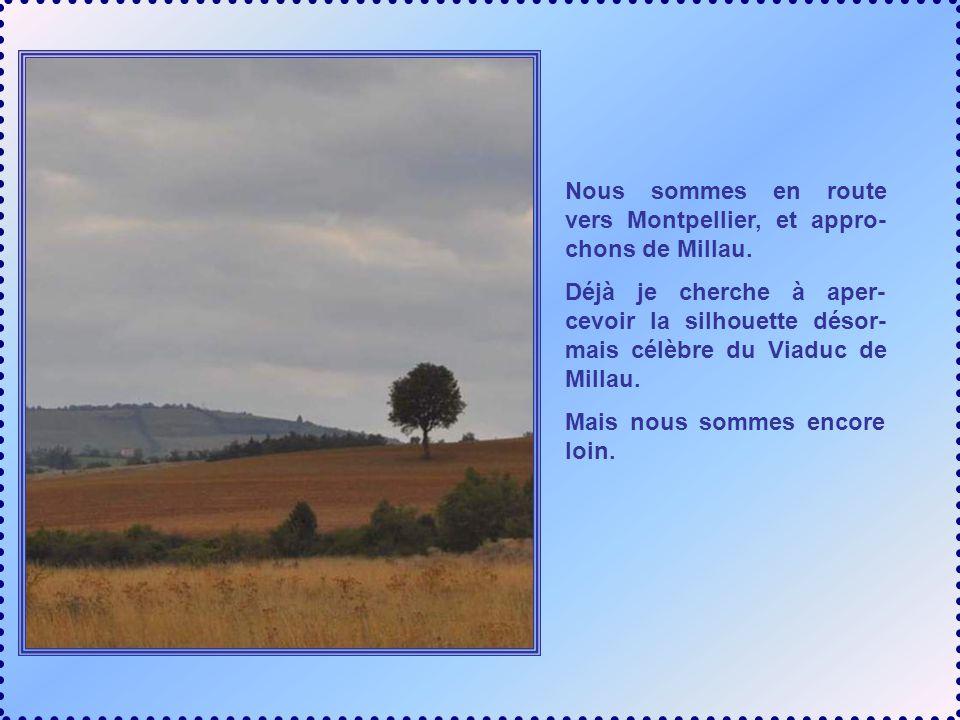 Nous sommes en route vers Montpellier, et appro-chons de Millau.