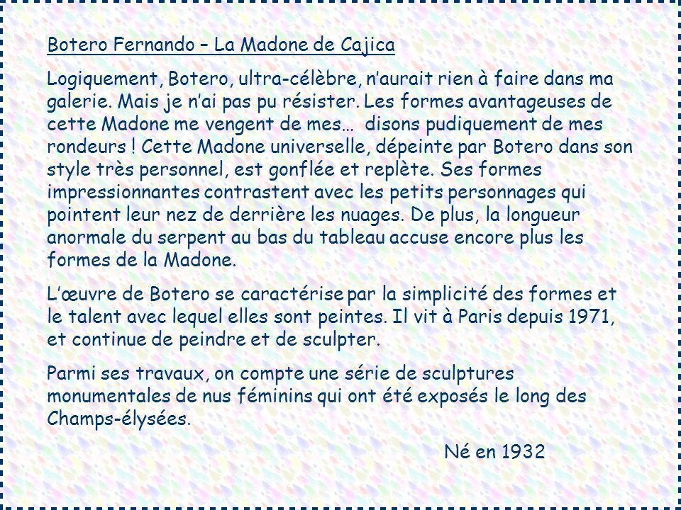 Botero Fernando – La Madone de Cajica