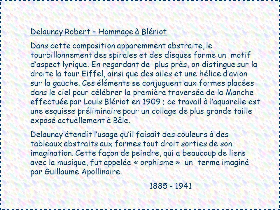 Delaunay Robert – Hommage à Blériot