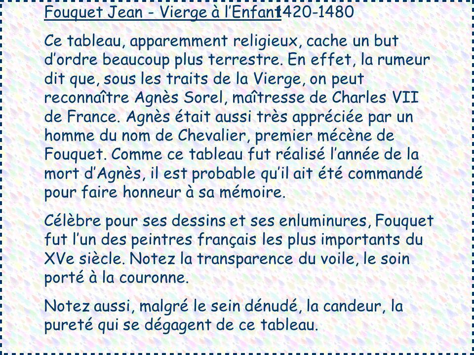 Fouquet Jean - Vierge à l'Enfant