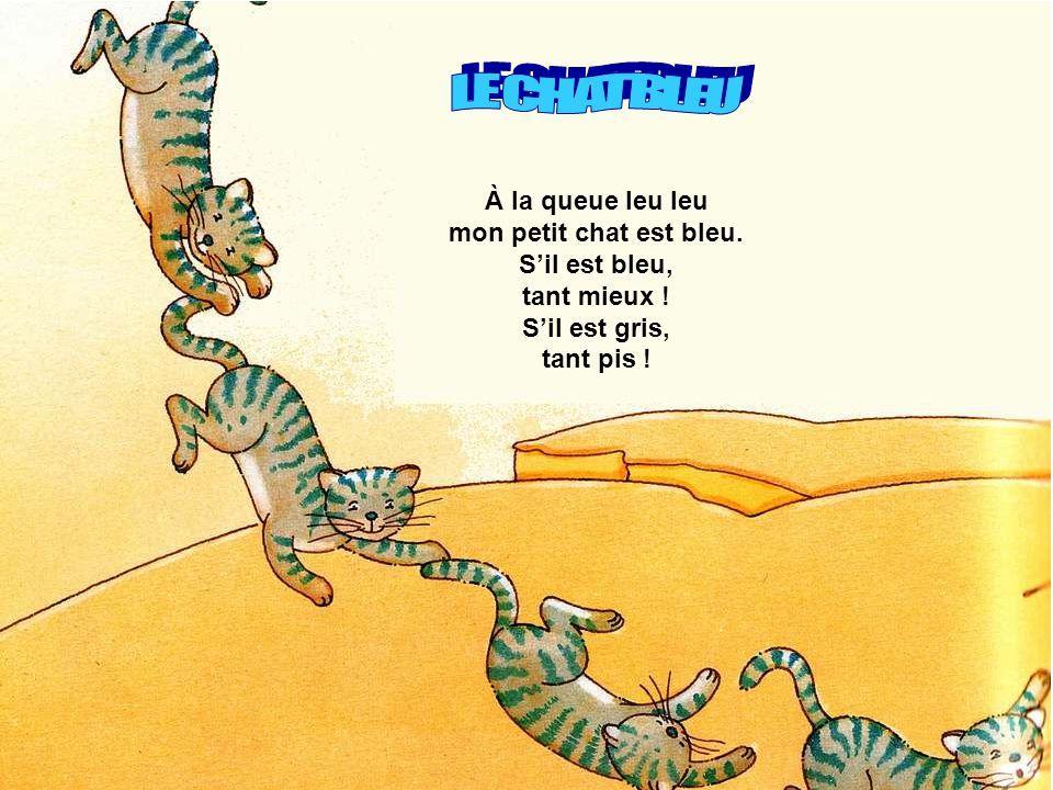 LE CHAT BLEU À la queue leu leu mon petit chat est bleu.