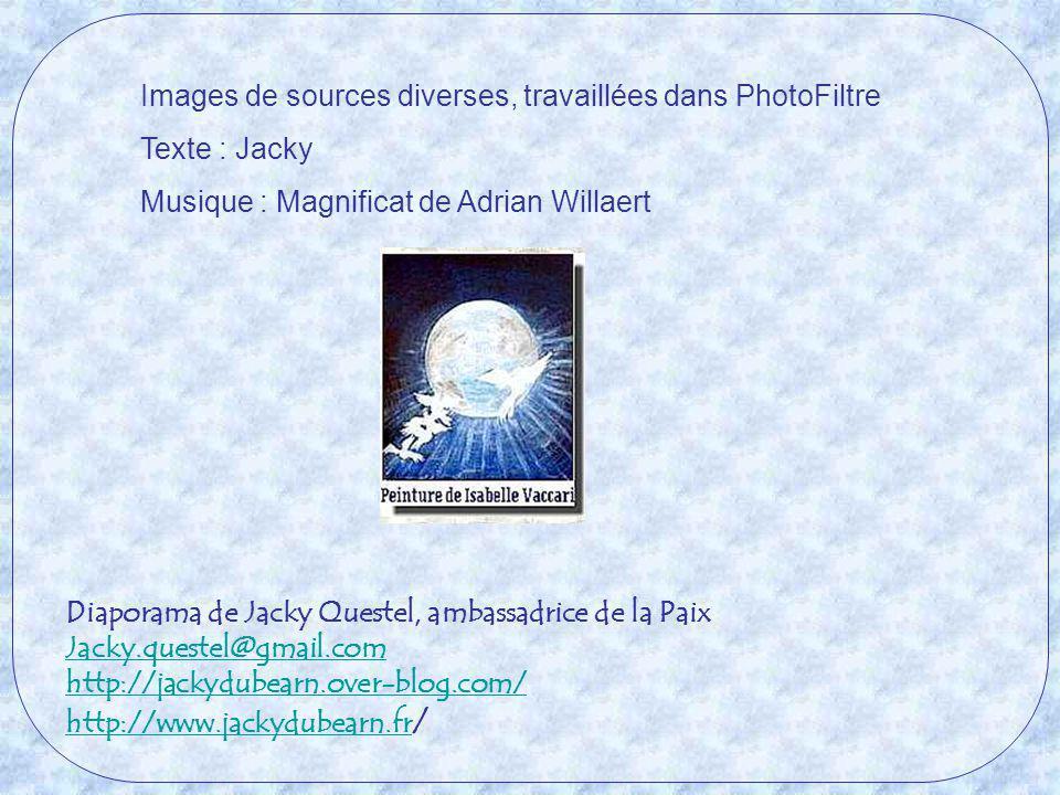 Images de sources diverses, travaillées dans PhotoFiltre