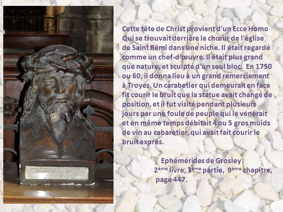 Cette tête de Christ provient d un Ecce Homo