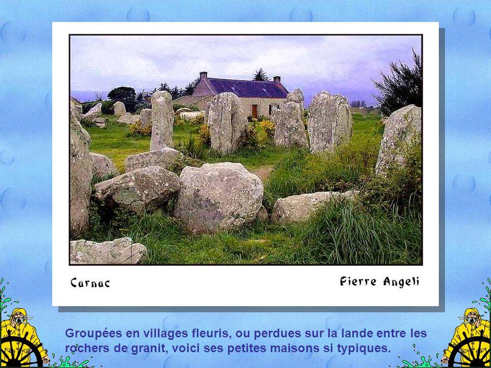 Groupées en villages fleuris, ou perdues sur la lande entre les rochers de granit, voici ses petites maisons si typiques.