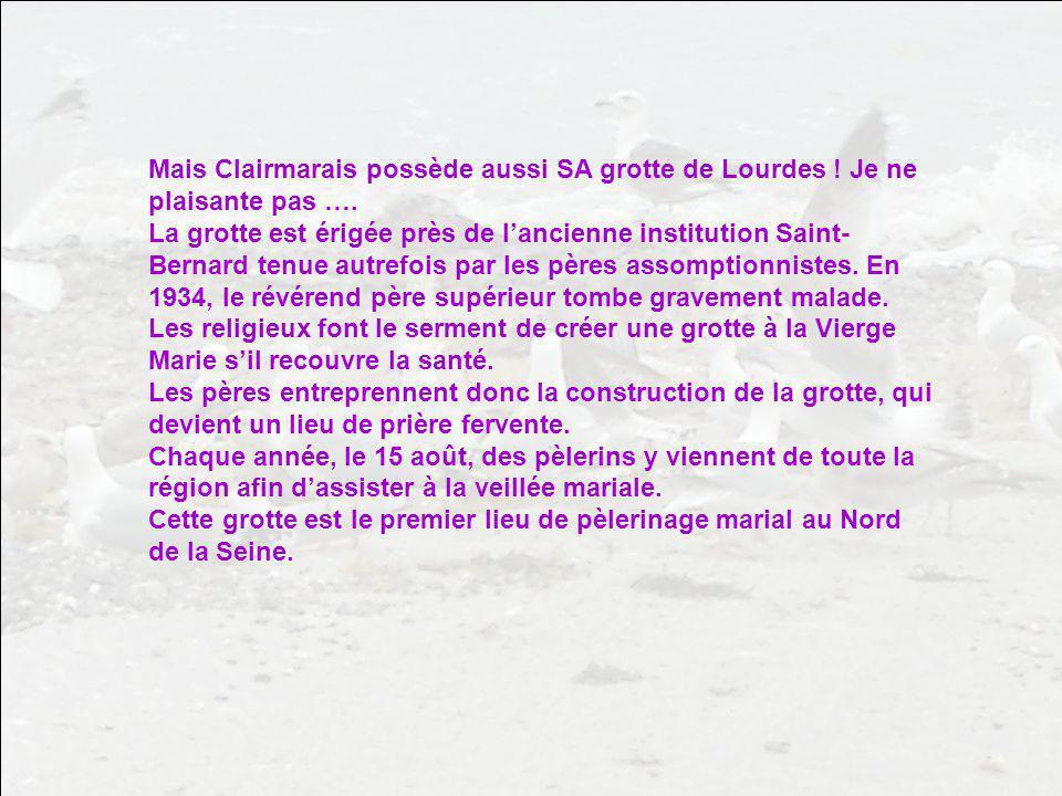 Mais Clairmarais possède aussi SA grotte de Lourdes