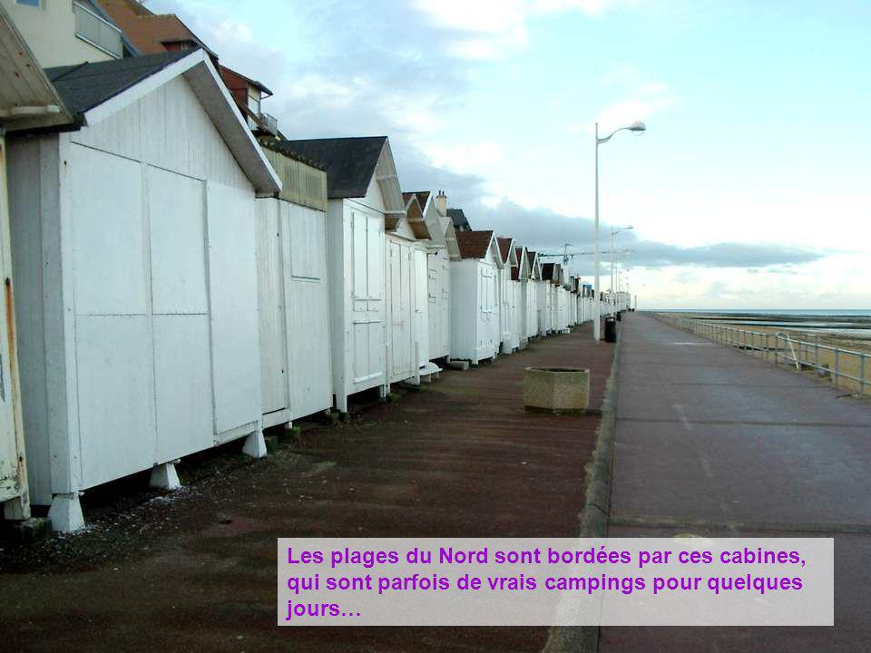 Les plages du Nord sont bordées par ces cabines, qui sont parfois de vrais campings pour quelques jours…
