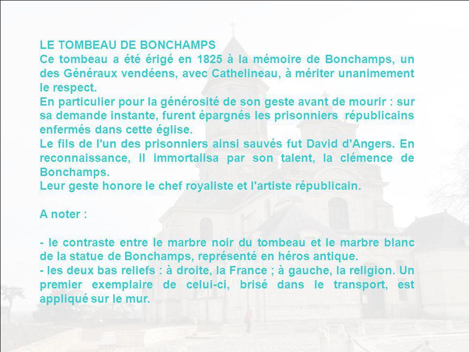 LE TOMBEAU DE BONCHAMPS