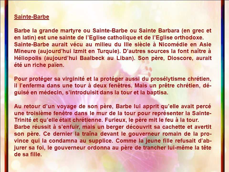 Sainte-Barbe