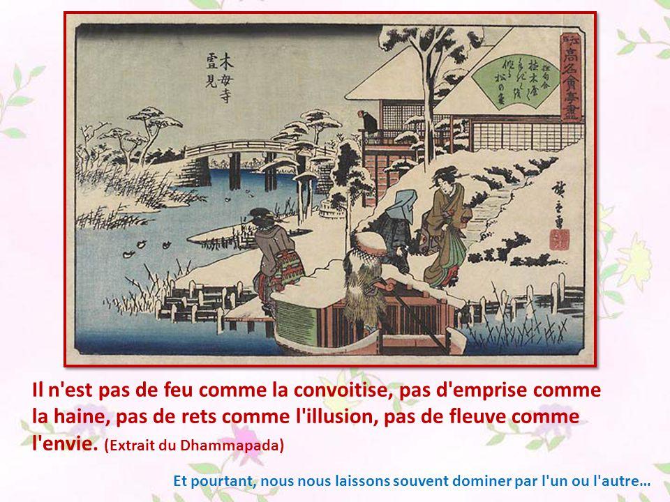 Il n est pas de feu comme la convoitise, pas d emprise comme la haine, pas de rets comme l illusion, pas de fleuve comme l envie. (Extrait du Dhammapada)
