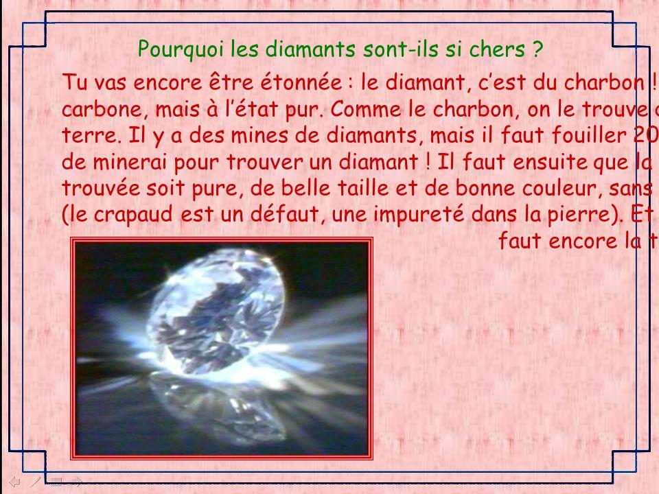 Pourquoi les diamants sont-ils si chers