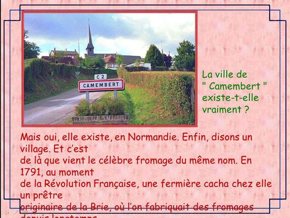 La ville de Camembert existe-t-elle. vraiment Mais oui, elle existe, en Normandie. Enfin, disons un village. Et c'est.