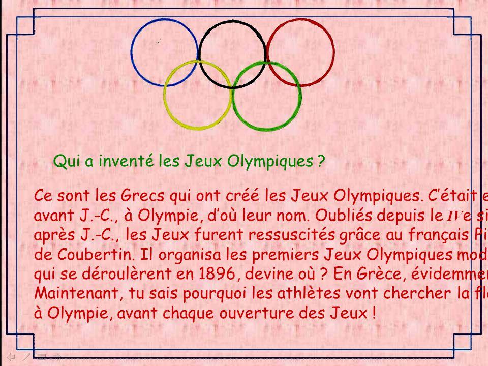 Qui a inventé les Jeux Olympiques