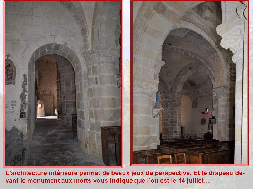 L'architecture intérieure permet de beaux jeux de perspective
