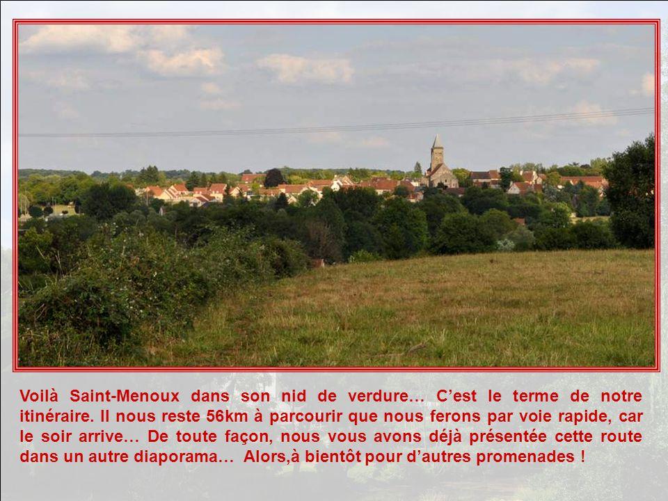 Voilà Saint-Menoux dans son nid de verdure… C'est le terme de notre itinéraire.