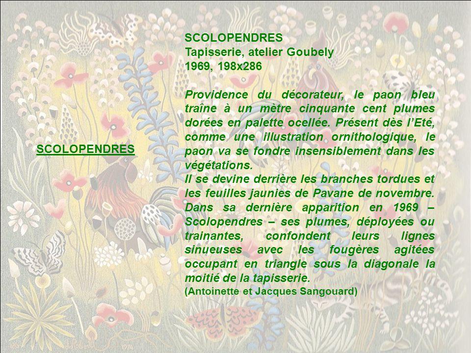 Tapisserie, atelier Goubely 1969, 198x286