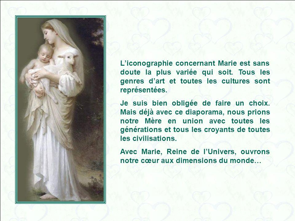 L'iconographie concernant Marie est sans doute la plus variée qui soit