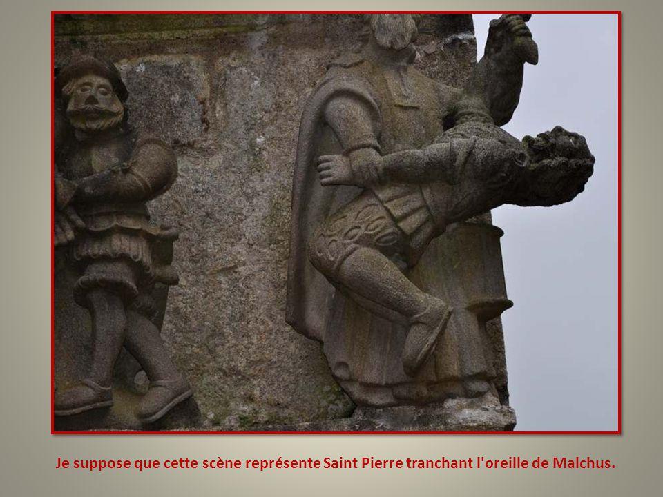 Je suppose que cette scène représente Saint Pierre tranchant l oreille de Malchus.