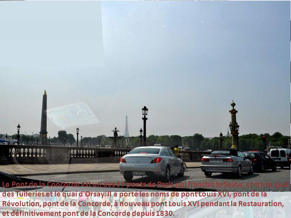 Le Pont de la Concorde est un des 37 ponts de Paris qui franchit la Seine, entre le quai des Tuileries et le quai d Orsay.