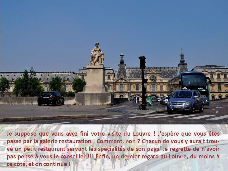 Je suppose que vous avez fini votre visite du Louvre