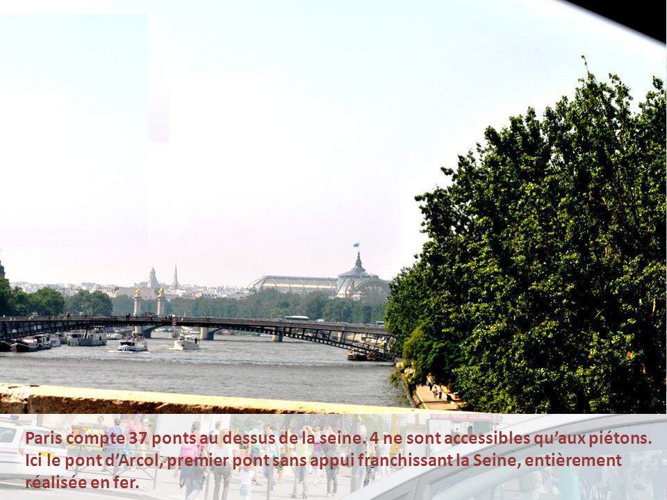 Paris compte 37 ponts au dessus de la seine