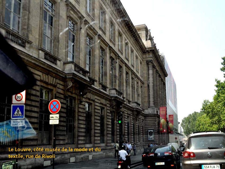 Le Louvre, côté musée de la mode et du textile, rue de Rivoli