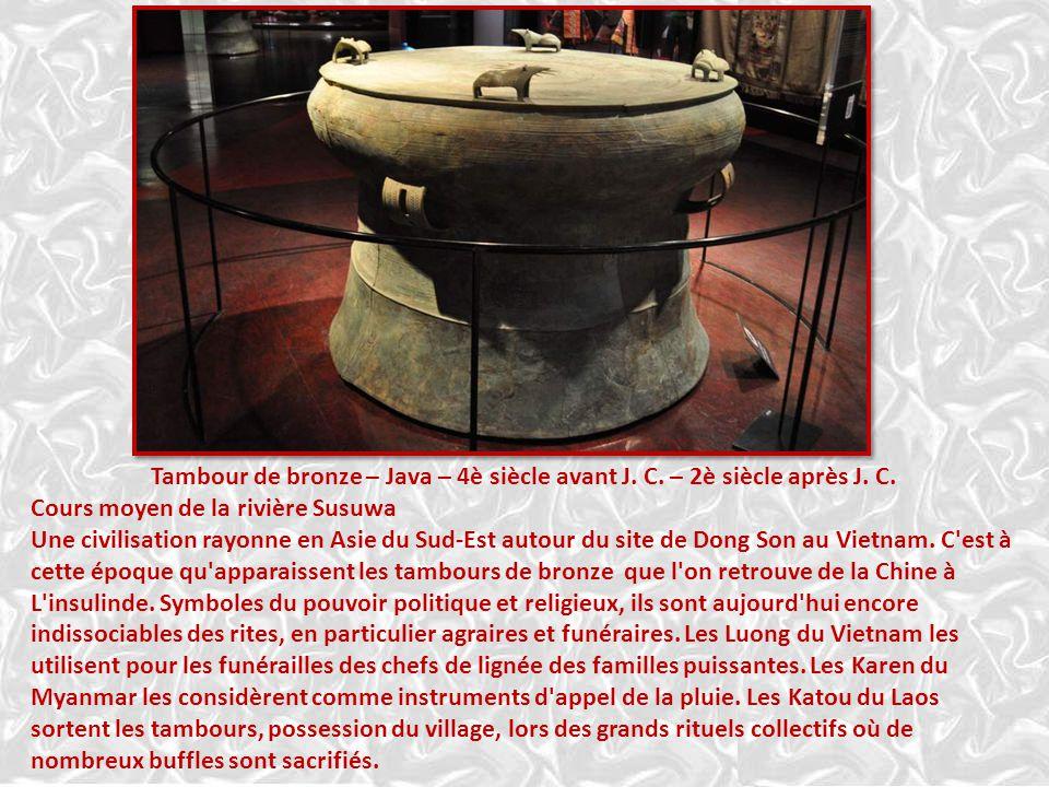 Tambour de bronze – Java – 4è siècle avant J. C. – 2è siècle après J. C.
