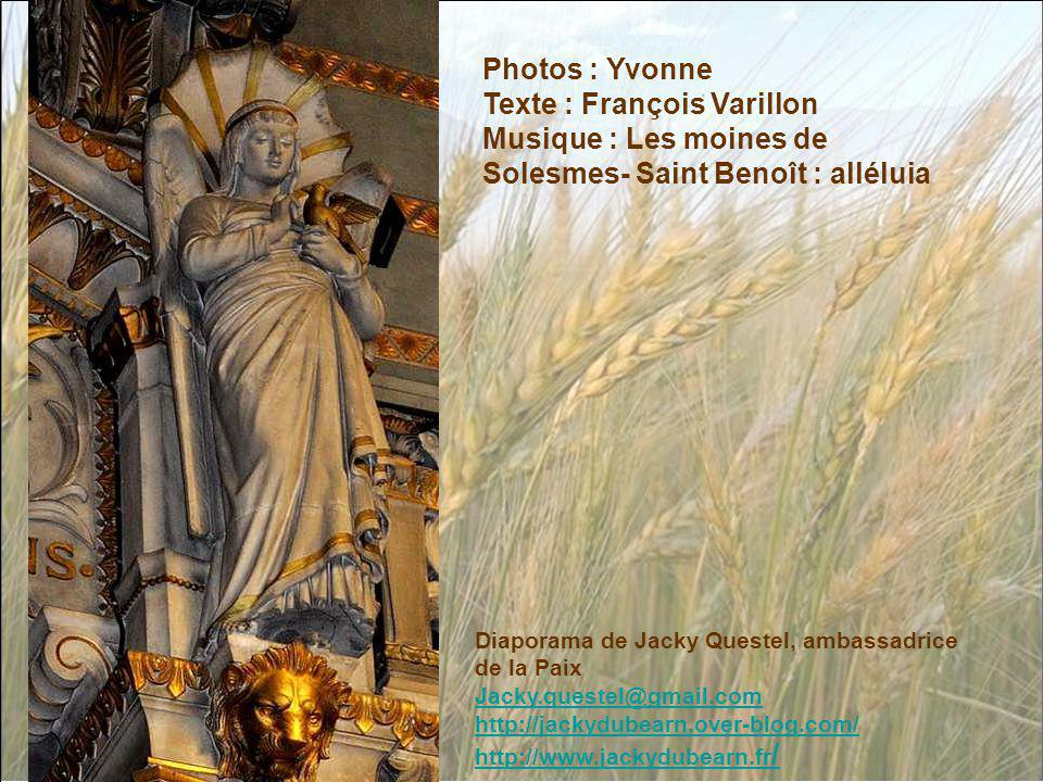 Photos : Yvonne Texte : François Varillon Musique : Les moines de Solesmes- Saint Benoît : alléluia