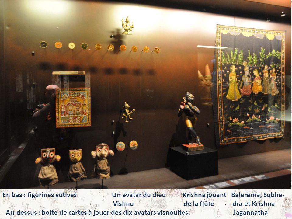 En bas : figurines votives Un avatar du dieu Krishna jouant Balarama, Subha-
