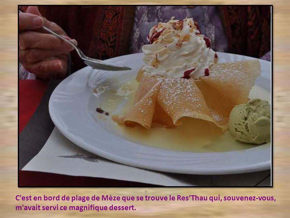 C est en bord de plage de Mèze que se trouve le Res'Thau qui, souvenez-vous, m avait servi ce magnifique dessert.