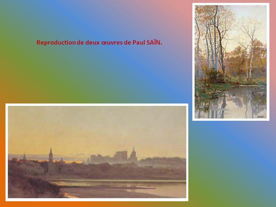Reproduction de deux œuvres de Paul SAÏN.