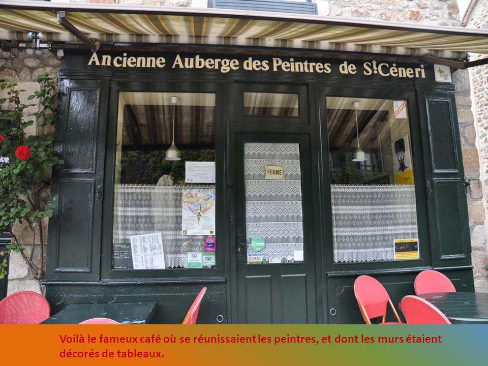 Voilà le fameux café où se réunissaient les peintres, et dont les murs étaient décorés de tableaux.