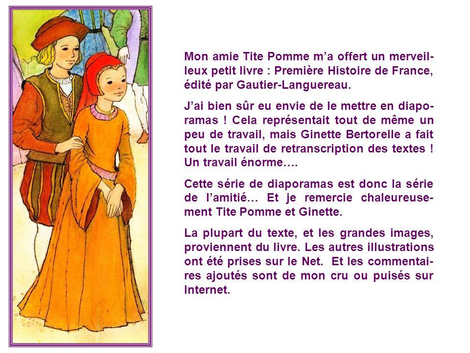 Mon amie Tite Pomme m'a offert un merveil-leux petit livre : Première Histoire de France, édité par Gautier-Languereau.
