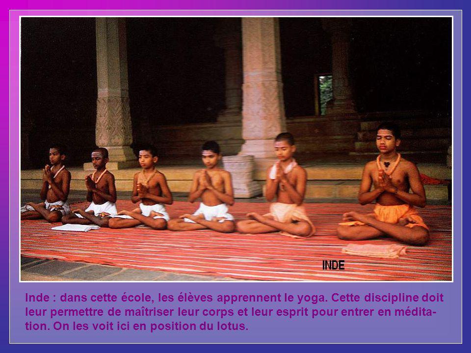 Inde : dans cette école, les élèves apprennent le yoga