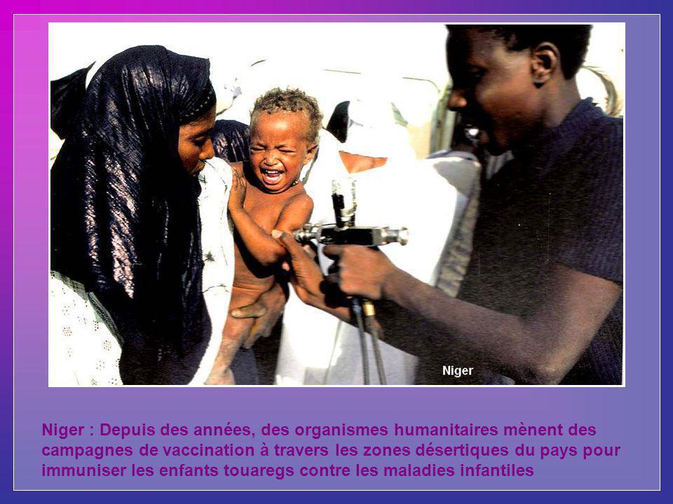 Niger : Depuis des années, des organismes humanitaires mènent des campagnes de vaccination à travers les zones désertiques du pays pour immuniser les enfants touaregs contre les maladies infantiles