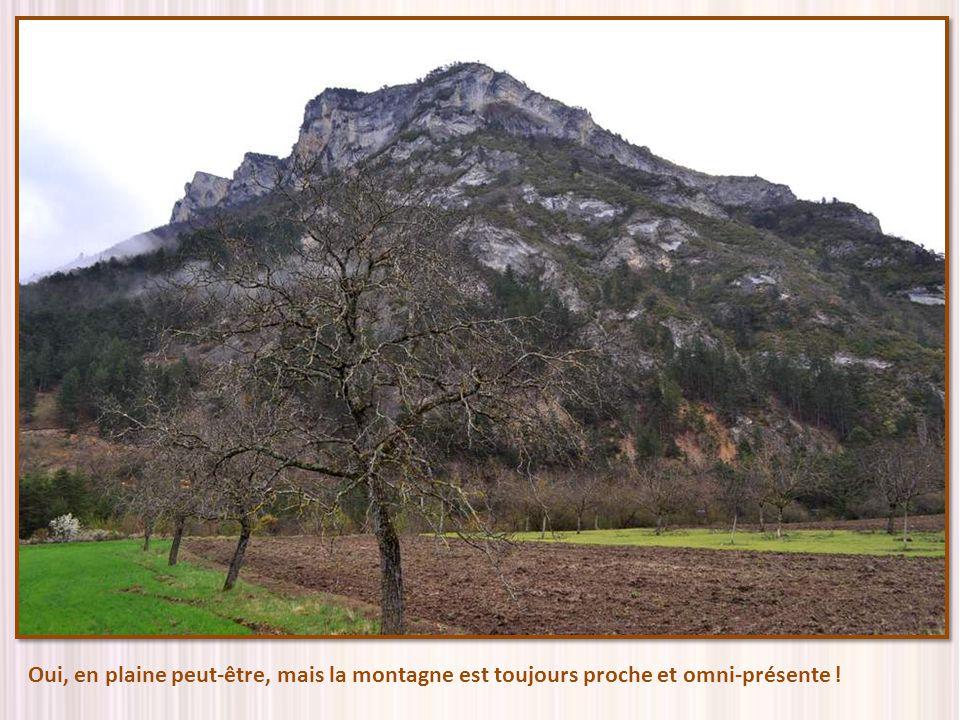 Oui, en plaine peut-être, mais la montagne est toujours proche et omni-présente !