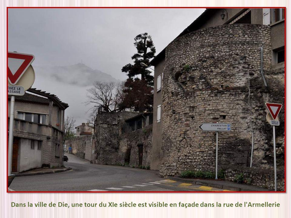 Dans la ville de Die, une tour du XIe siècle est visible en façade dans la rue de l Armellerie