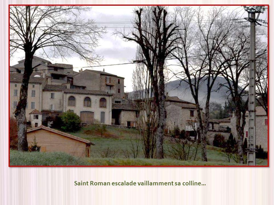 Saint Roman escalade vaillamment sa colline…